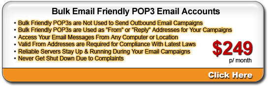 Bullet Proof Email Accounts